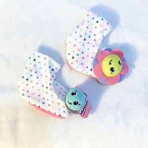 Other - BABY GIRL WHITE SOCKS WITH RATTLES ON TOES